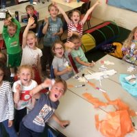 excited for arts and crafts at holiday camps